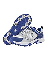 SG Xtreme II Cricket Shoes, Size- 11 (White/Silver/Blue)