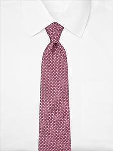 Nina Ricci Men's Geometric Pattern Tie, Maroon