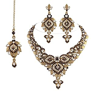 I Jewels Ethnic ColleCTion Gold Plated Alloy Elegantly Hand Crafted Kundan Sets For Women