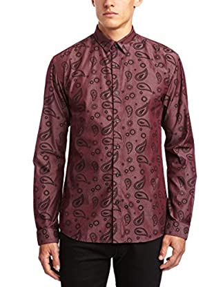 Selected Homme Camisa Hombre Pickens (Burdeos)
