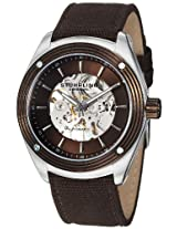 Stuhrling Original Men's 8209C.331OK59 Leisure Millennia Venture Skeleton Brown Canvas Strap Watch
