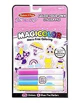 Melissa and Doug On the Go Magicolor Sticker Book - Pink, Multi Color