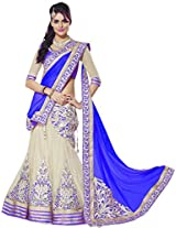 Asha Fashion Blue Net And Georgette Party And Wedding Lehenga