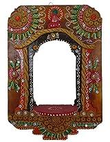 ANIKA CREATIONS Wooden Jharoka Lamp - 28 cm x 1 cm x 20 cm, Multicolour