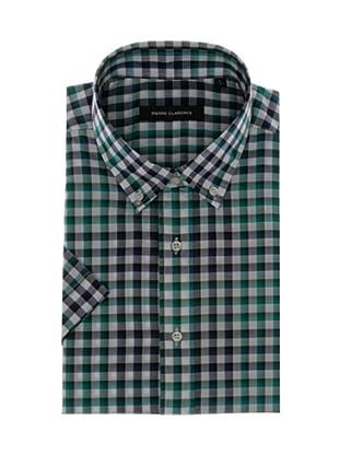 Pierre Clarence Camisa de manga corta (Gris/Verde)
