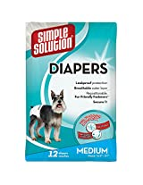 Simple Solution Disposable Diapers, Medium (12 Pack)