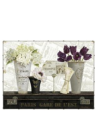 """Kathryn White Paris Gare de l'Est Hand-Embellished Canvas, 30"""" x 40"""""""