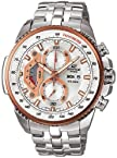 Casio Edifice Trademark Trendy Watch Classic Silver Colored - Model Number EF-558D-7AVDF ED438
