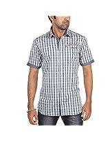 Radio Jockey Men's Slim Fit Cotton Checks Shirt(Small)