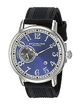 Stuhrling Original Men's 229A2.33166 Classic Legacy de Novo Automatic Date Black Rubber Strap Watch