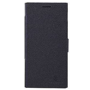 Nillkin Fresh Ultra Thin Leather Flip Diary Cover Case for Lenovo K900 (Black)