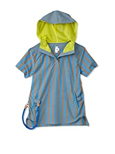 kicokids Boy's Hybrid Henley Hoodie-Shirt with Sailor Rope Key Ring (Surf)