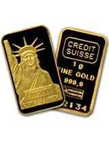 New 1 Gram Credit Suisse Gold Bar Sealed With Assay Card