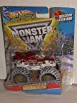 2012 Hot Wheels 1:64 Scale Exclusive Holiday Iron Man Monster Jam Truck with Snow Covered Tires