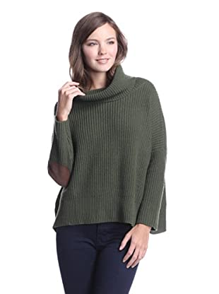 Autumn Cashmere Women's Cropped Cowl Sweater (Forest)