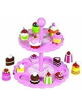 Tidlo High Tea Shape Matching Cupcake Set, Pink