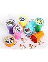 Vaster Lovely Dog Childrens Decorative Assorted Plastic Stamps, 6 Pc