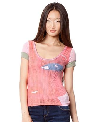 Custo Camisa (Rosa / Gris)