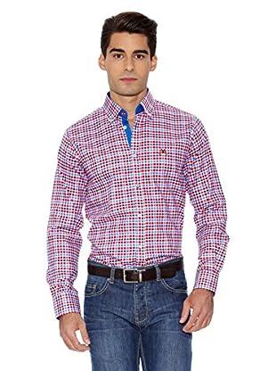 La Española Camisa Fitted Check (Rojo / Azul Marino)