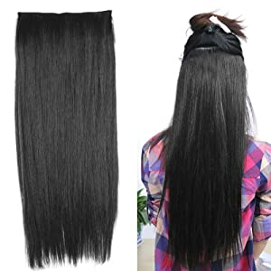 World Pride Fashionable 23 Straight Full Head Clip In Hair Extensions - Black
