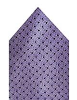 Navaksha Purple Geometrical Pocket Square