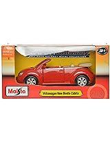 Maisto Volkswagen Beetle Cabriolet Die Cast Toy Car (Red)