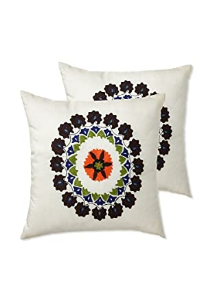 Zalva Set of 2 Suzani Pillows, 18