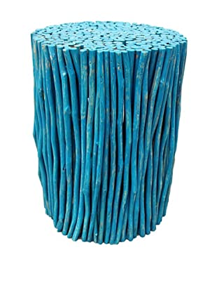 Asian Art Imports Stick Stool, Antique Blue