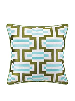 Jennifer Paganelli Hotel Monaco Pillow, Teal/Green