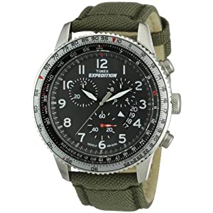 Timex Expedition Chronograph Black Dial Unisex Watch - T49823