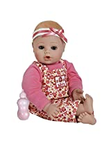 """Adora Playtime Baby -Flower,  13"""" Washable Soft Body Play Doll for Children 12 months & up, with Bottle"""