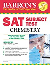 Sat Subject Test, Chemistry (Barron's Sat Subject Test Chemistry)
