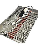Beauties Factory 18pcs Makeup Brushes Glossy Silver Design