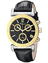 Salvatore Ferragamo Mens FP1900014 Salvatore Analog Display Quartz Black Watch