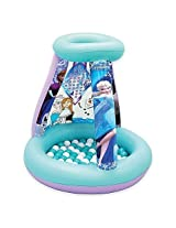 "Disney ""Frozen"" Color N Play Inflatable Pvc Activity Playland With Ball Pit And 4 Washable Markers"