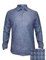 Numero Uno Blue Casual Reversible Shirt