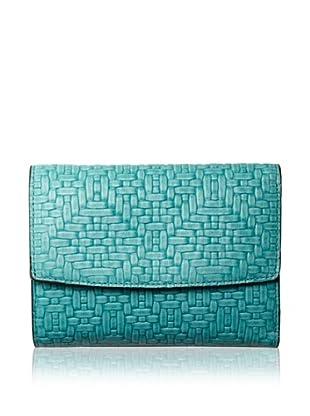 Treesje Women's Snap Wallet (Turquoise Woven)