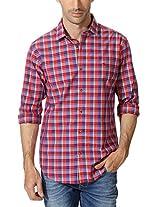 Peter England Classic Multi Toned Plaid Shirt
