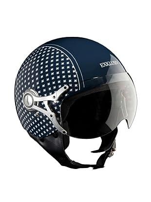 Exklusiv Helmets Casco Freeway Flor de Lys (Azul)
