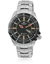 Edifice Ef-130D-1A5Vdf-(Ed419) Silver/Black Analog Watch