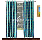 AVIONI HOME FANCY RICH LOOK HEAVY KNITTING POLYESTER AQUA EYELET CURTAIN