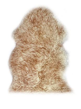 Natural Brand New Zealand Sheepskin Rug, Gradient Brown, 2' x 3'