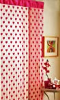 Beautiful Pink Summer Heart Net Curtain