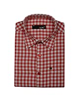 Blog Men's Red Full Sleeve Formal Shirt-FS28