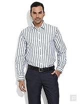 Stripe A Balance Shirt-Dark Blue-42