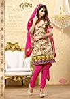 Pretty Pink Embroidered Chanderisilk Unstitched Suit AN2004