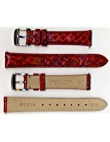 Invicta Genuine 16mm Red Cobra Leather Watch Strap IS251