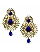 Beingwomen Gold Plated Stone Studded Chandbali Earring