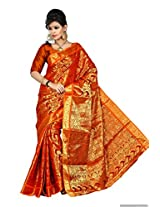 Kanchipuram Art Silk Saree(d.no-131-Orange)