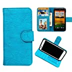 DooDa PU Leather Wallet Flip Case Cover With Card & ID Slots & Magnetic Closure For LG G3 Stylus (D690) (Baby Blue)